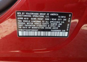 VOLKSWAGEN PASSAT S 2015 full