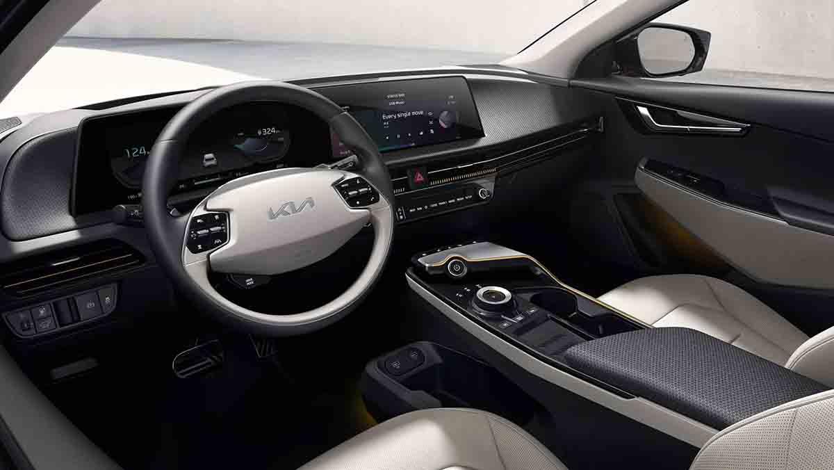 электрокар Kia EV6 2021 интерьер